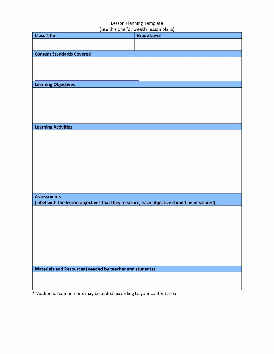 Weekly Lesson Plans Template Elegant 44 Free Lesson Plan Templates [ Mon Core Preschool Weekly]