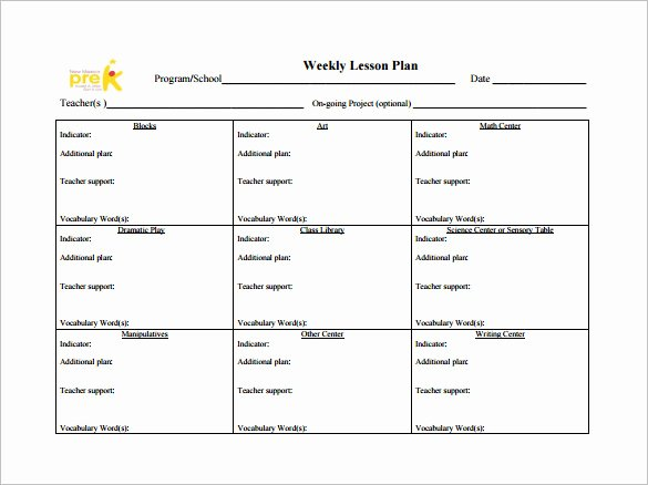 Weekly Lesson Plans Template Inspirational Weekly Lesson Plan Template 8 Free Word Excel Pdf