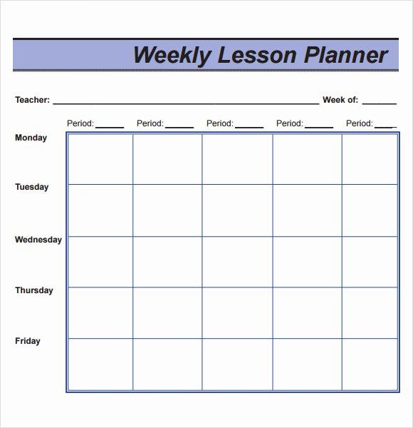 Weekly Lesson Plans Template New 10 Sample Lesson Plans
