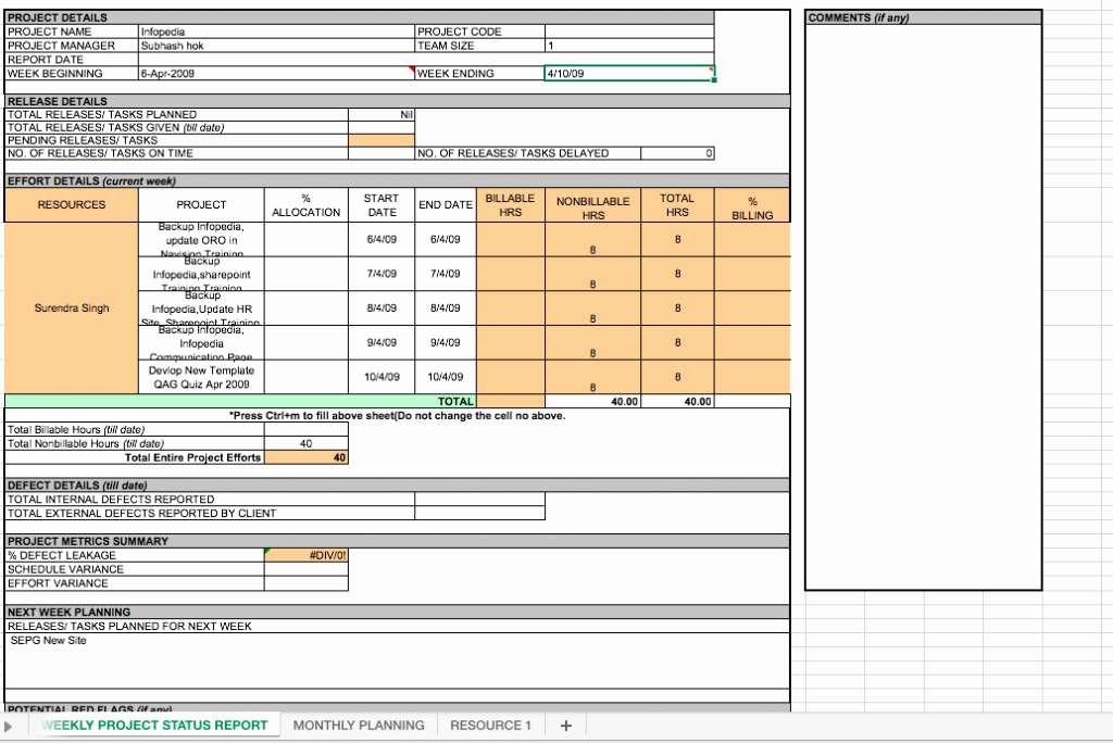 Weekly Management Report Template New Weekly Project Status Report Template Excel