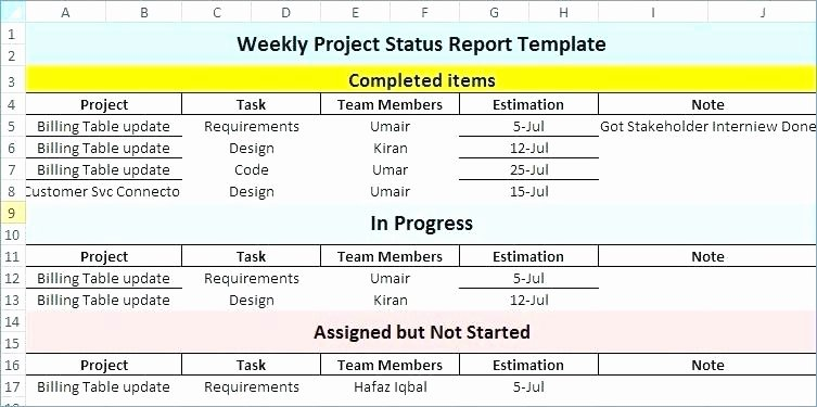 Weekly Management Report Template New Weekly Report format Excel Management Report Sample