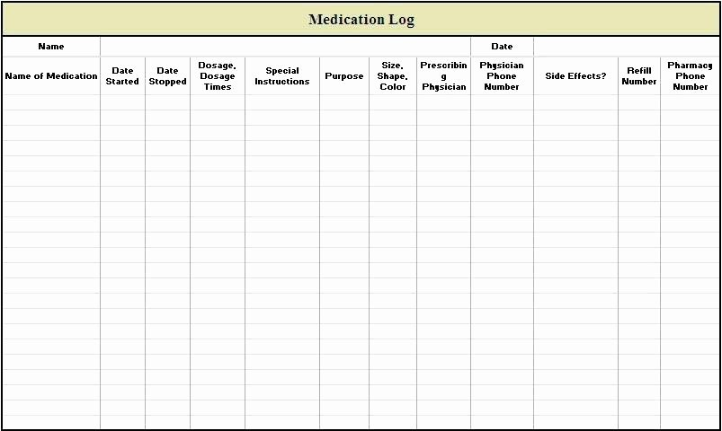 Weekly Medication Schedule Template Beautiful Daily Medication Time Chart – Bluedasher
