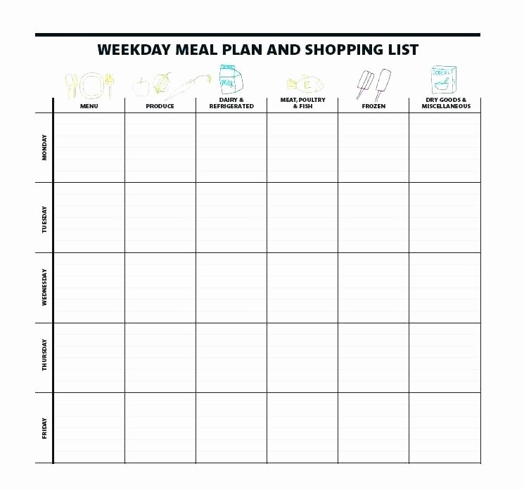 Weekly Menu Template Word Awesome Weekly Meal Planning Template – Skincense