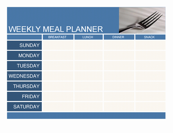 Weekly Menu Template Word Elegant Weekly Meal Planner Template Word