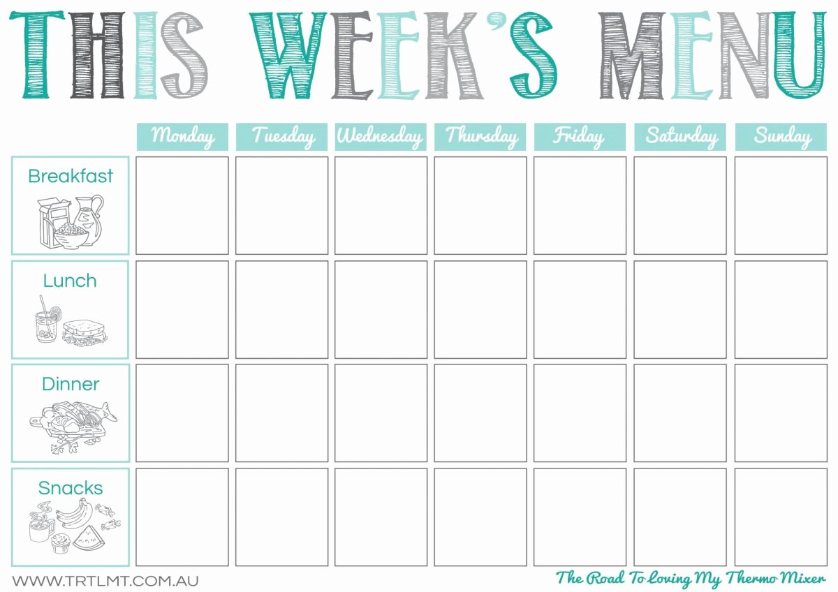 Weekly Menu Template Word Elegant Weekly Menu Idea – Two Kids and An Oven