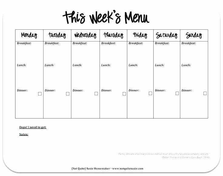 Weekly Menu Template Word Elegant Weekly Menu Templates for Microsoft Word Actadiurnafo