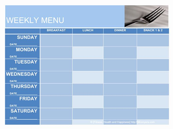 Weekly Menu Template Word Inspirational What S for Dinner Menu Planning Templates Jill Conyers