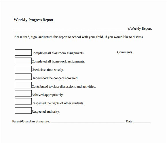 Weekly Progress Report Template Best Of 13 Sample Weekly Progress Reports