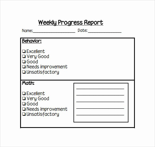 Weekly Progress Report Template Best Of Weekly Report Template 12 Download Free Documents In Pdf