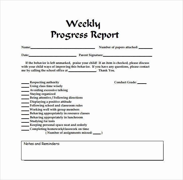 Weekly Progress Report Template Luxury Weekly Report Template 12 Download Free Documents In Pdf