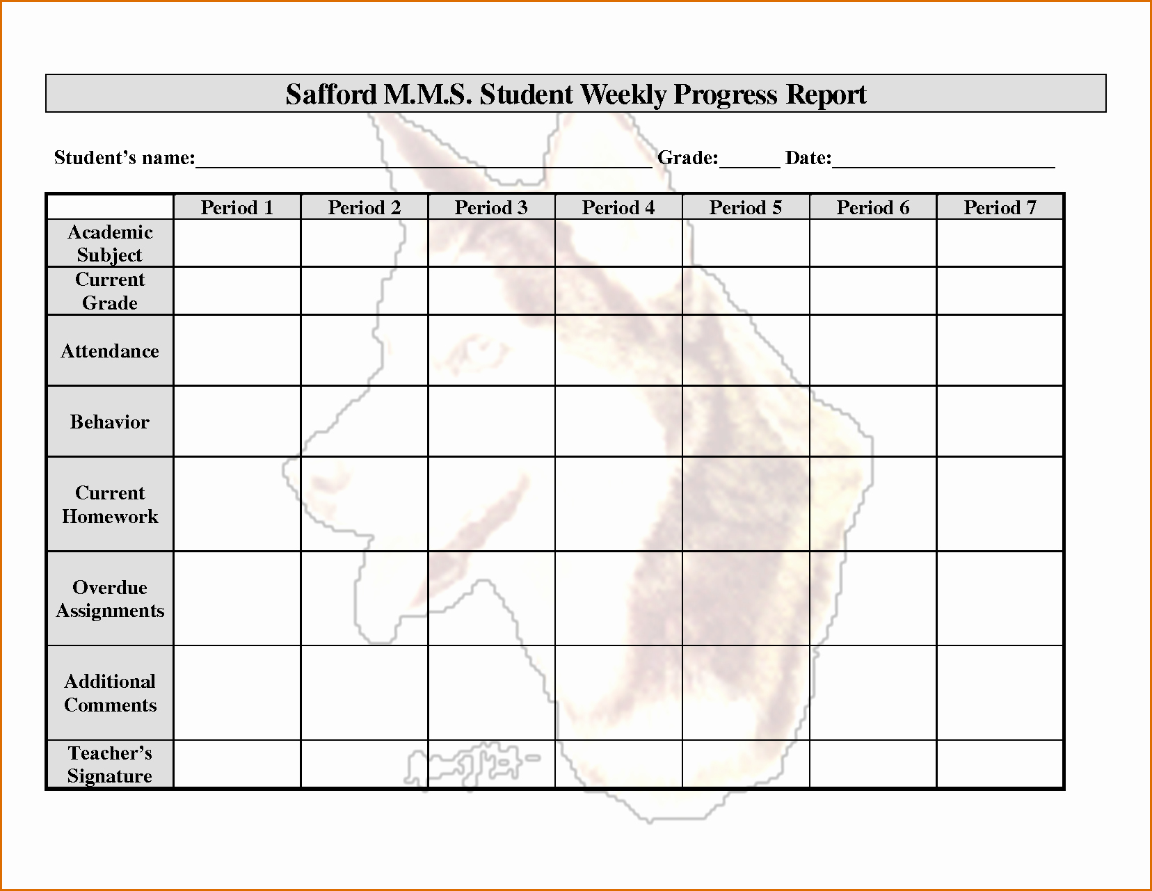 Weekly Progress Report Template New 12 Weekly Progress Report Template