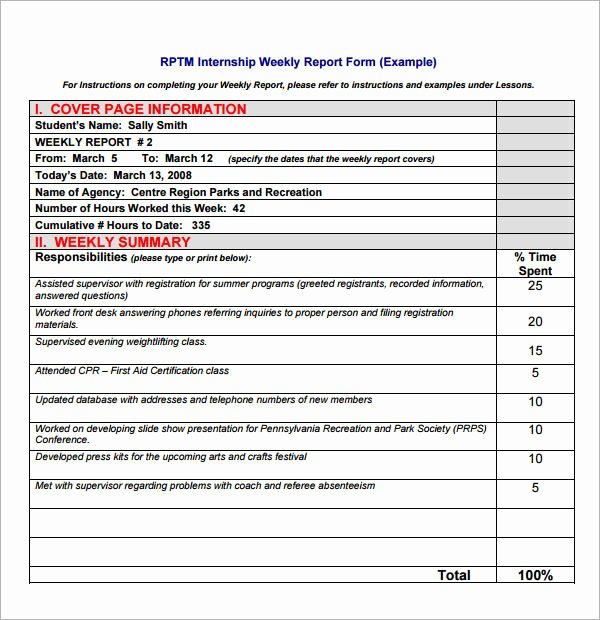 Weekly Progress Report Template New 22 Sample Weekly Report Templates Docs Pdf Word Pages