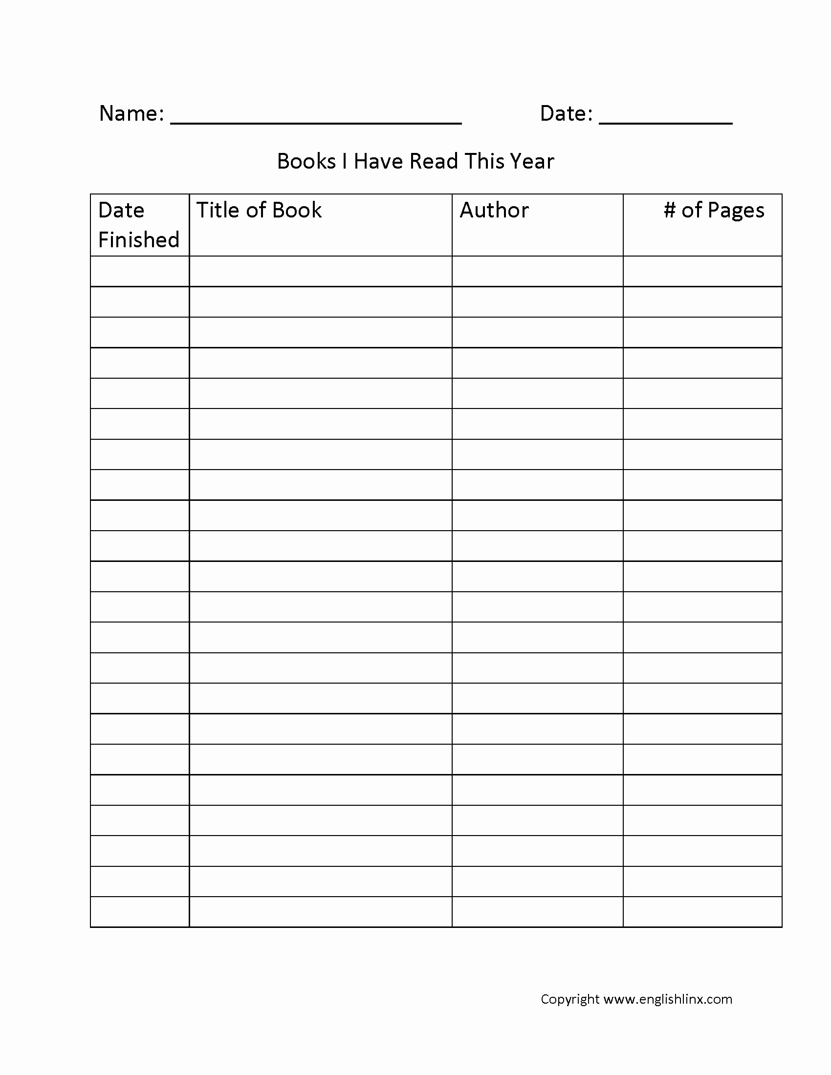 free printable reading logs with parent signature