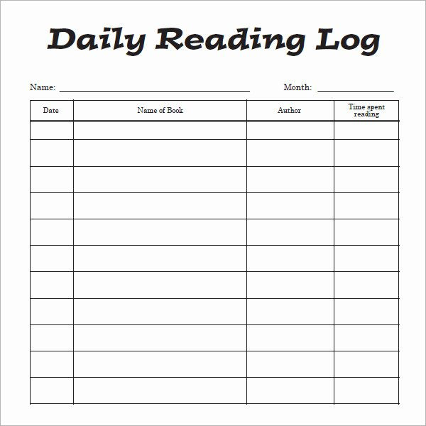 Weekly Reading Log Template Beautiful 12 Sample Reading Log Templates Pdf Word