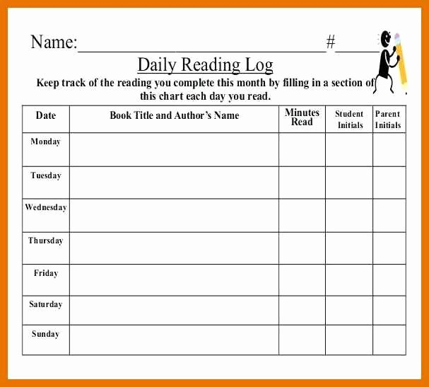 Weekly Reading Log Template Elegant 5 6 Reading Log Pdf
