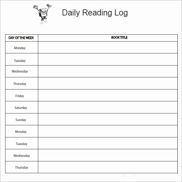 Weekly Reading Log Template New 12 Sample Reading Log Templates Pdf Word