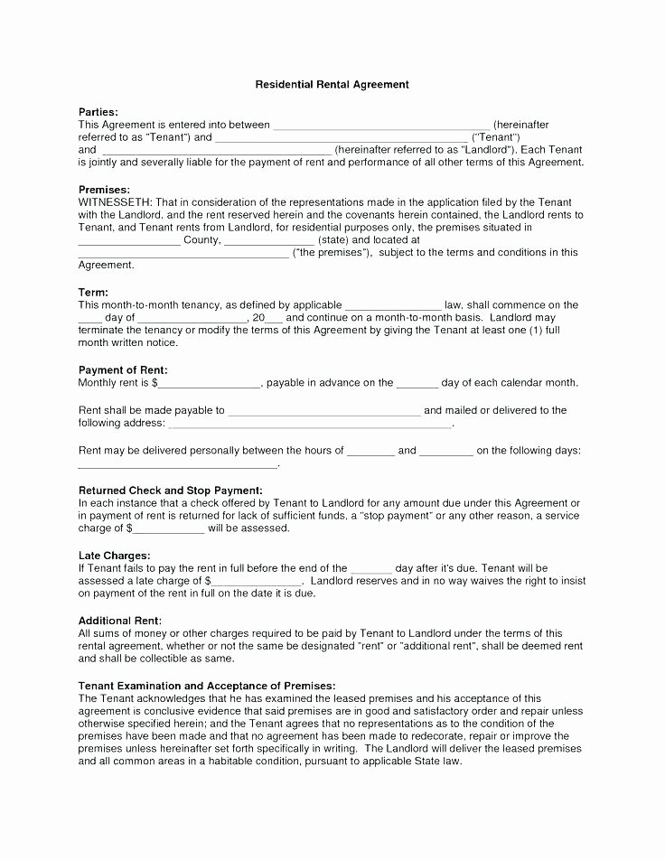 Weekly Rental Agreement Template Best Of House Lease Agreement Template Free Download House Rental