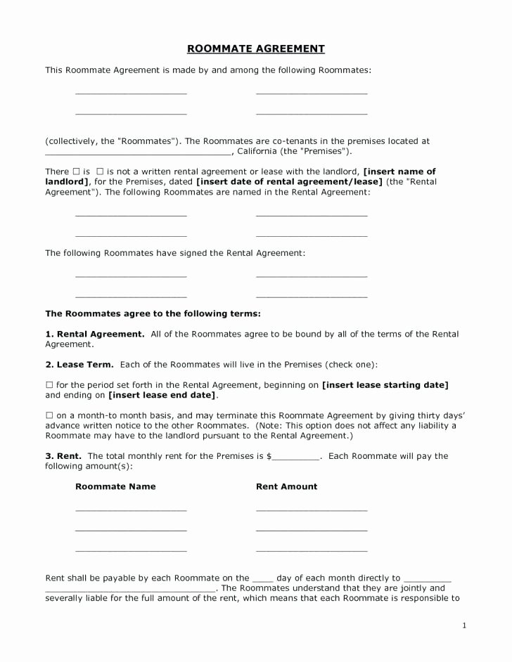 Weekly Rental Agreement Template Luxury Rental Agreement Template Awesome Month to Pdf Free form