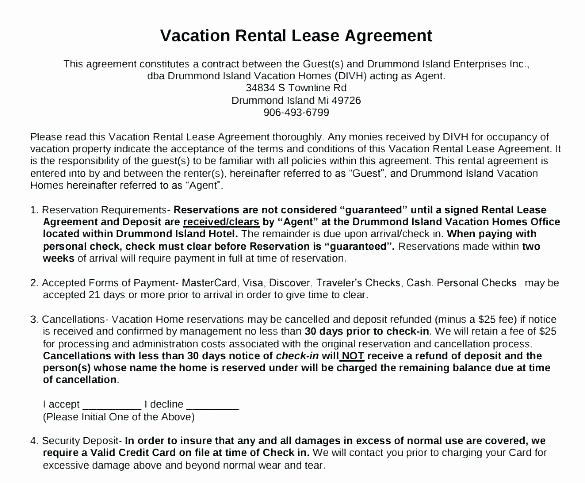 Weekly Rental Agreement Template Luxury Weekly Rental Agreement Template – Inntegra