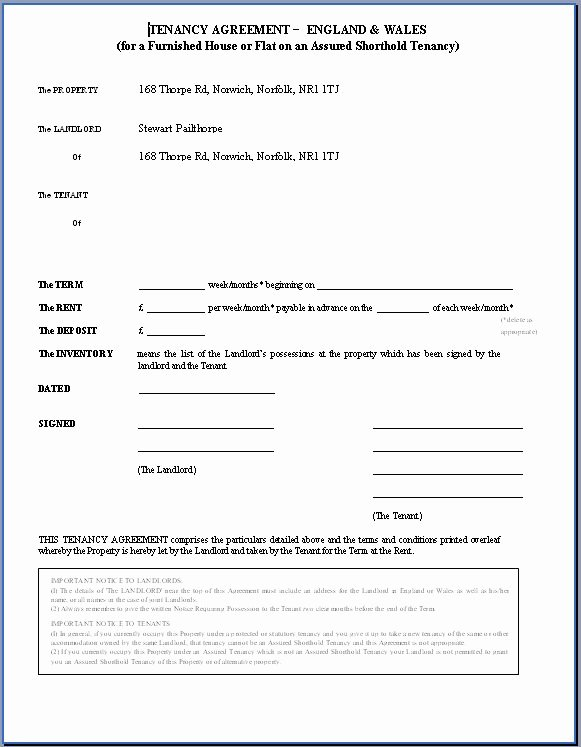 Weekly Rental Agreement Template New Printable Sample Rental Agreement Doc form