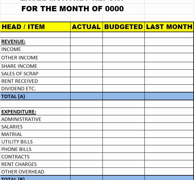 Weekly Report Template Excel Elegant Excel Monthly Report Template – Excel Word Templates