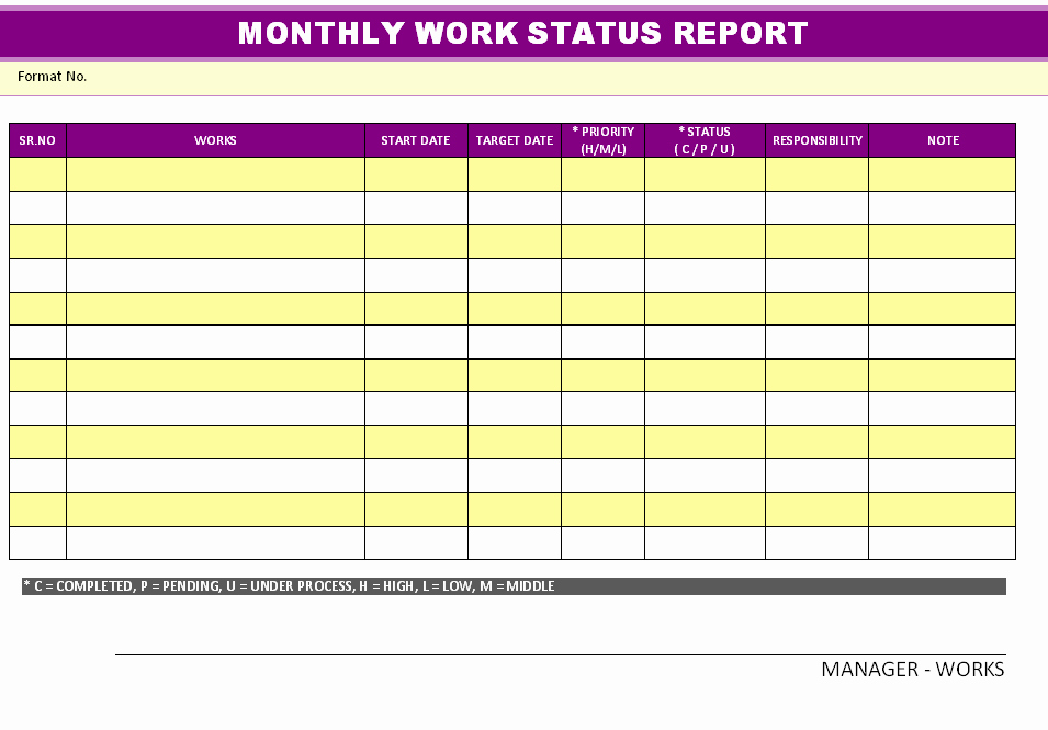 Weekly Report Template Excel Elegant Excellent Monthly Report Template and Samples for Your