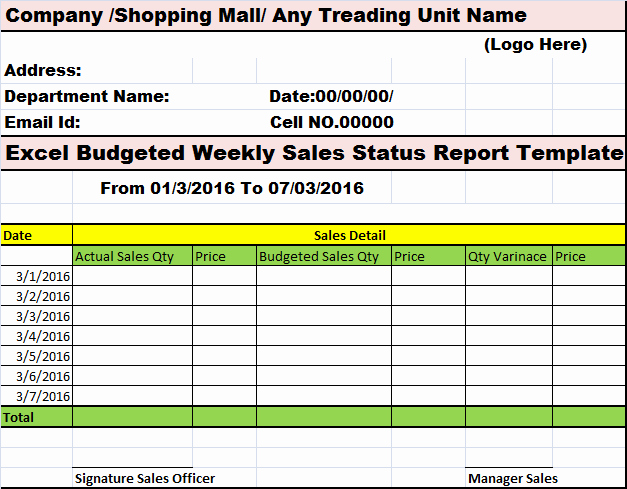 Weekly Sales Report Template Awesome Collection Of Free Report formats and Examples