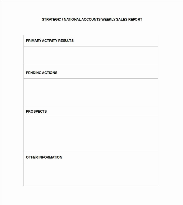 Weekly Sales Report Template New Sample Sales Report Template 7 Free Documents Download
