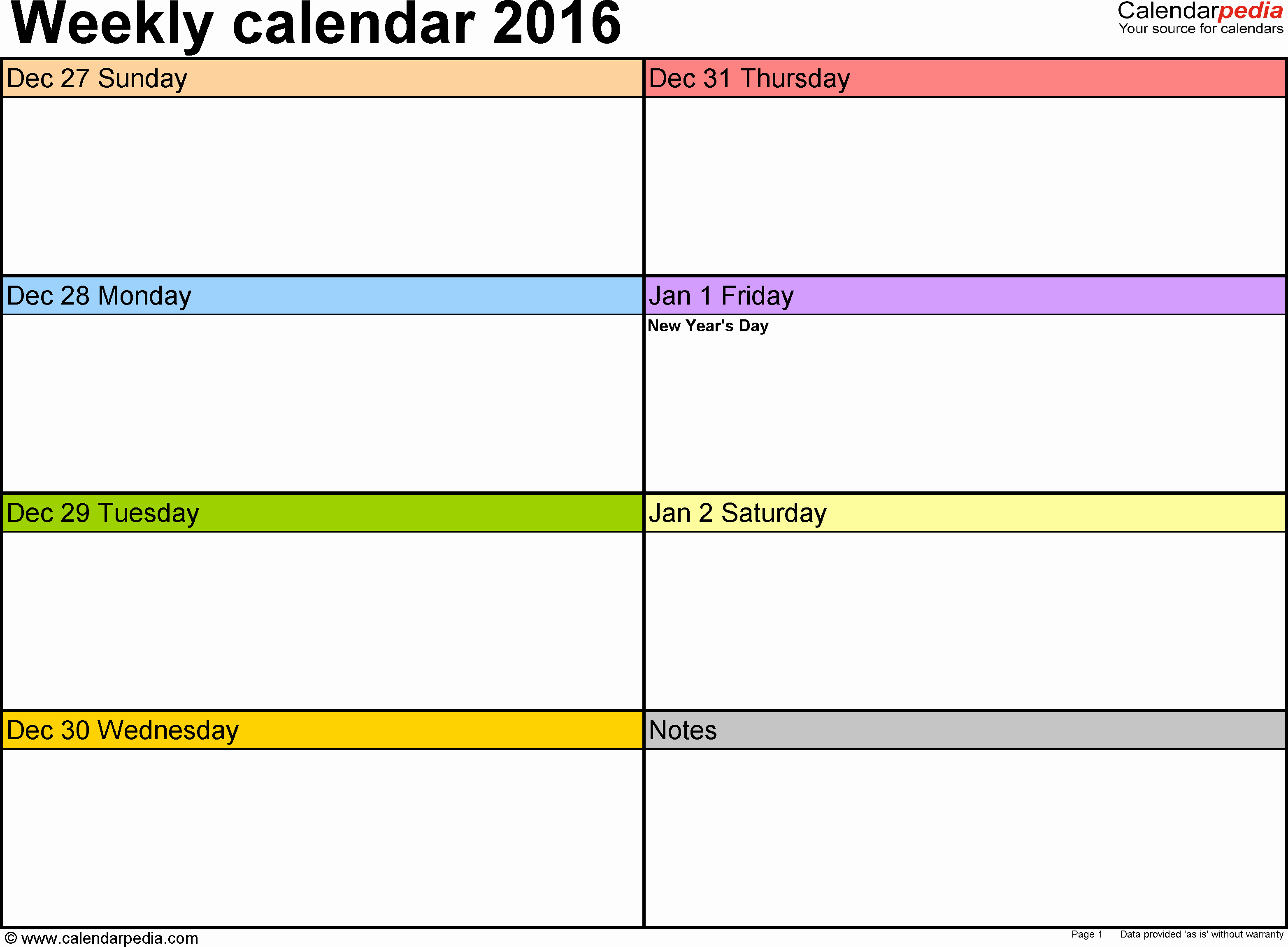 Weekly Schedule Template Pdf Awesome Weekly Calendar 2016 for Pdf 12 Free Printable Templates