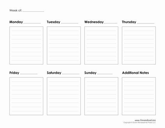 Weekly Schedule Template Pdf Beautiful Printable Weekly Calendar Template Free Blank Pdf