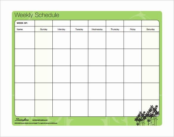 Weekly Schedule Template Pdf Best Of Family Schedule Template
