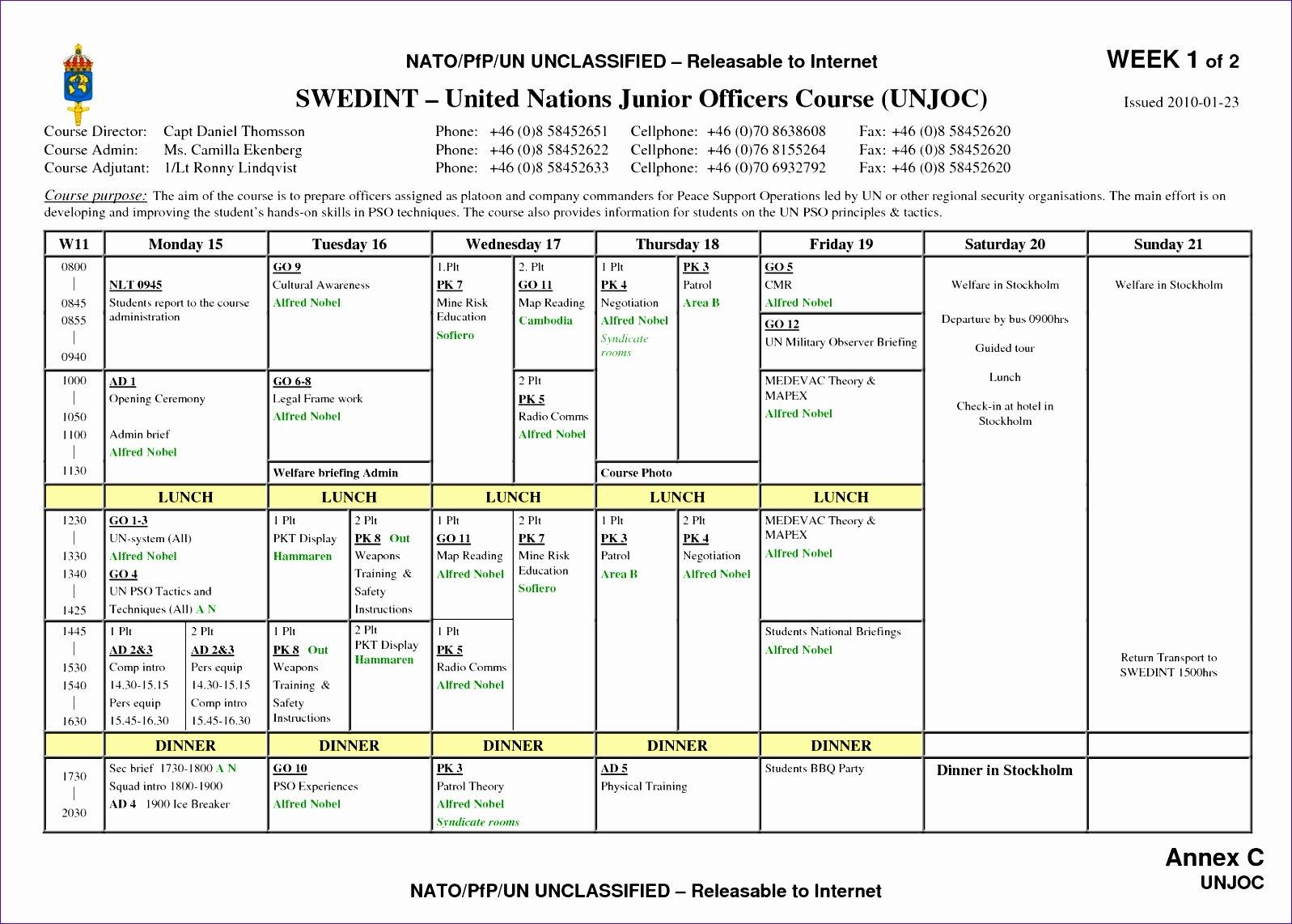 Weekly Schedule Template Pdf Elegant 9 Call Schedule Template Excel Exceltemplates