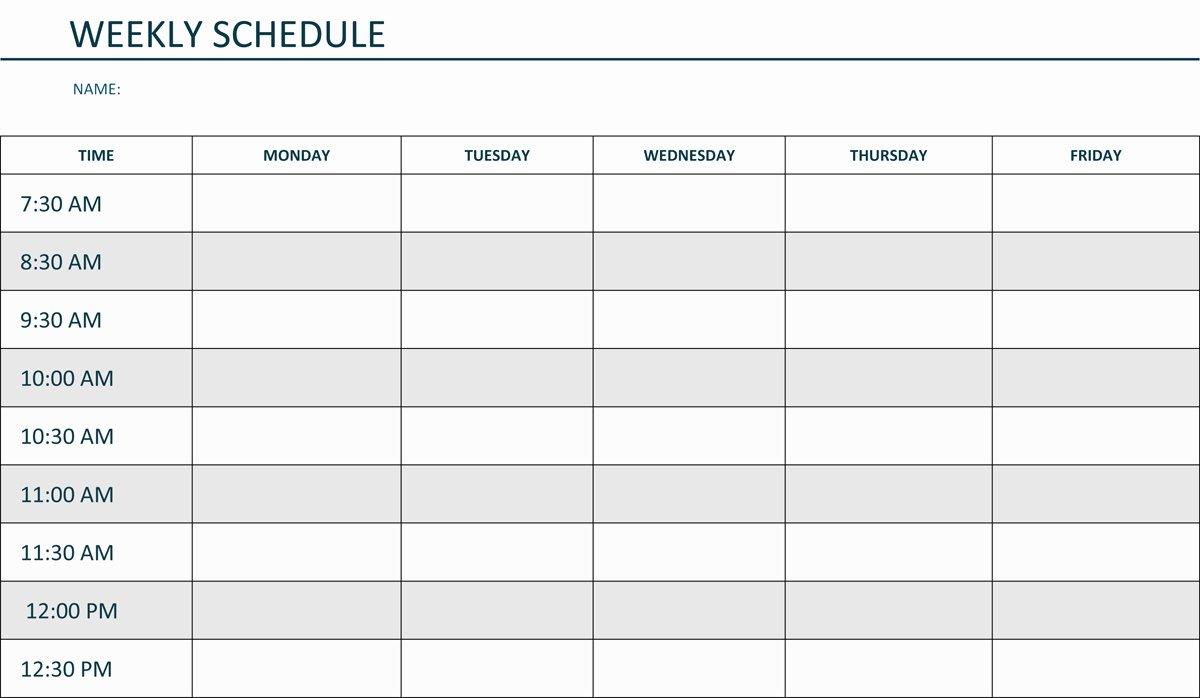 Weekly Schedule Template Pdf Luxury Editable Weekly Schedule Template In Word