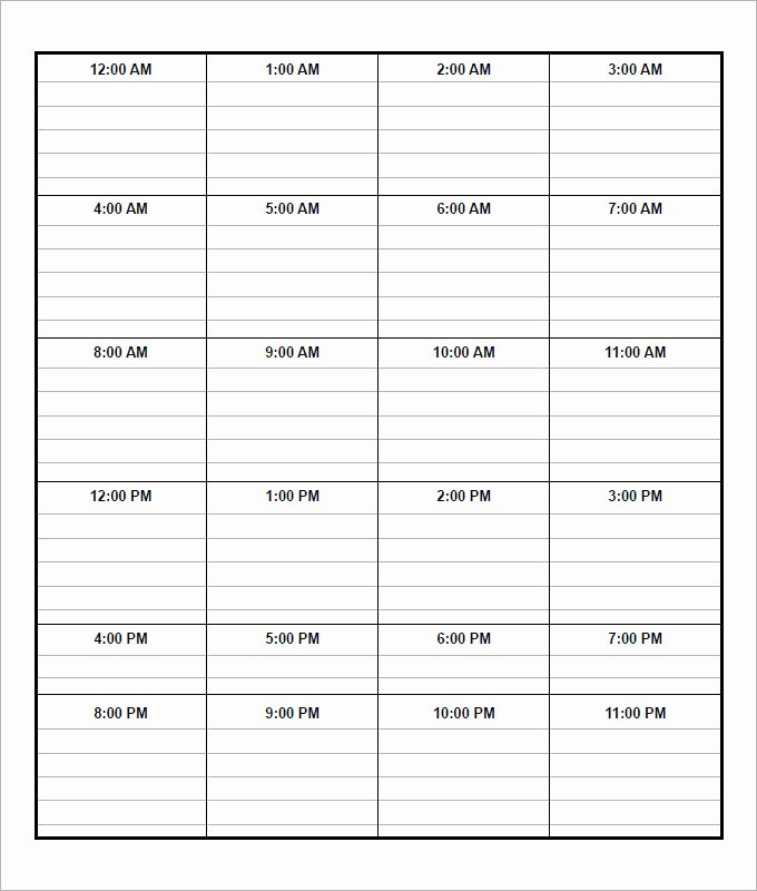 Weekly Schedule Template Pdf Unique Daily Schedule Template 5 Free Word Excel Pdf