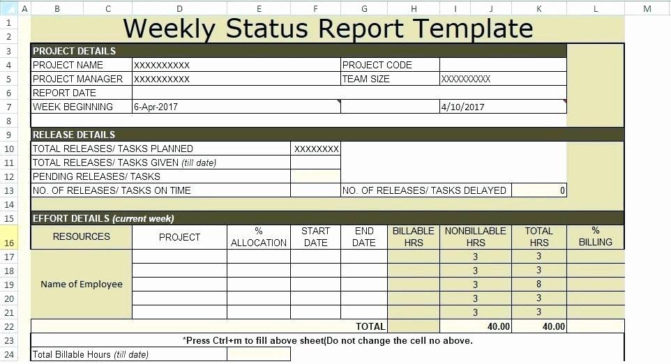 Weekly Status Report Template Best Of Weekly Report format Excel Weekly Template Excel Weekly