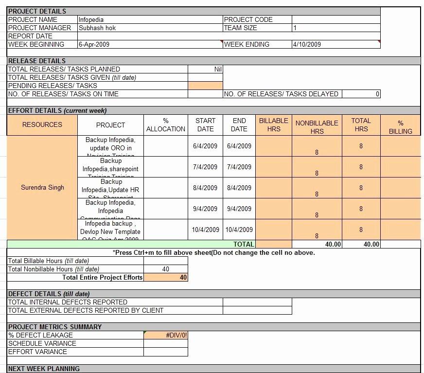 Weekly Status Report Template Fresh Weekly Status Report Template Professional Business