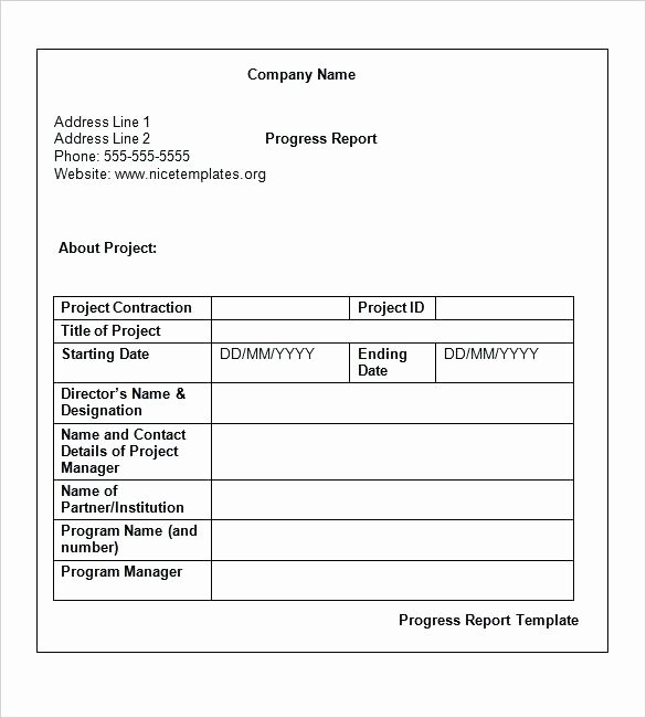 Weekly Status Report Template Lovely Technical Report Template Word 2010 Templates Data
