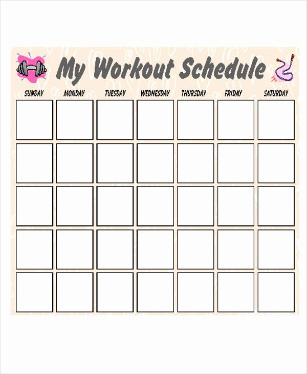 Weekly Workout Schedule Template Awesome 31 Calendar Samples & Templates