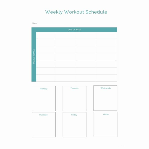 Weekly Workout Schedule Template Beautiful 27 Workout Schedule Templates Pdf Doc