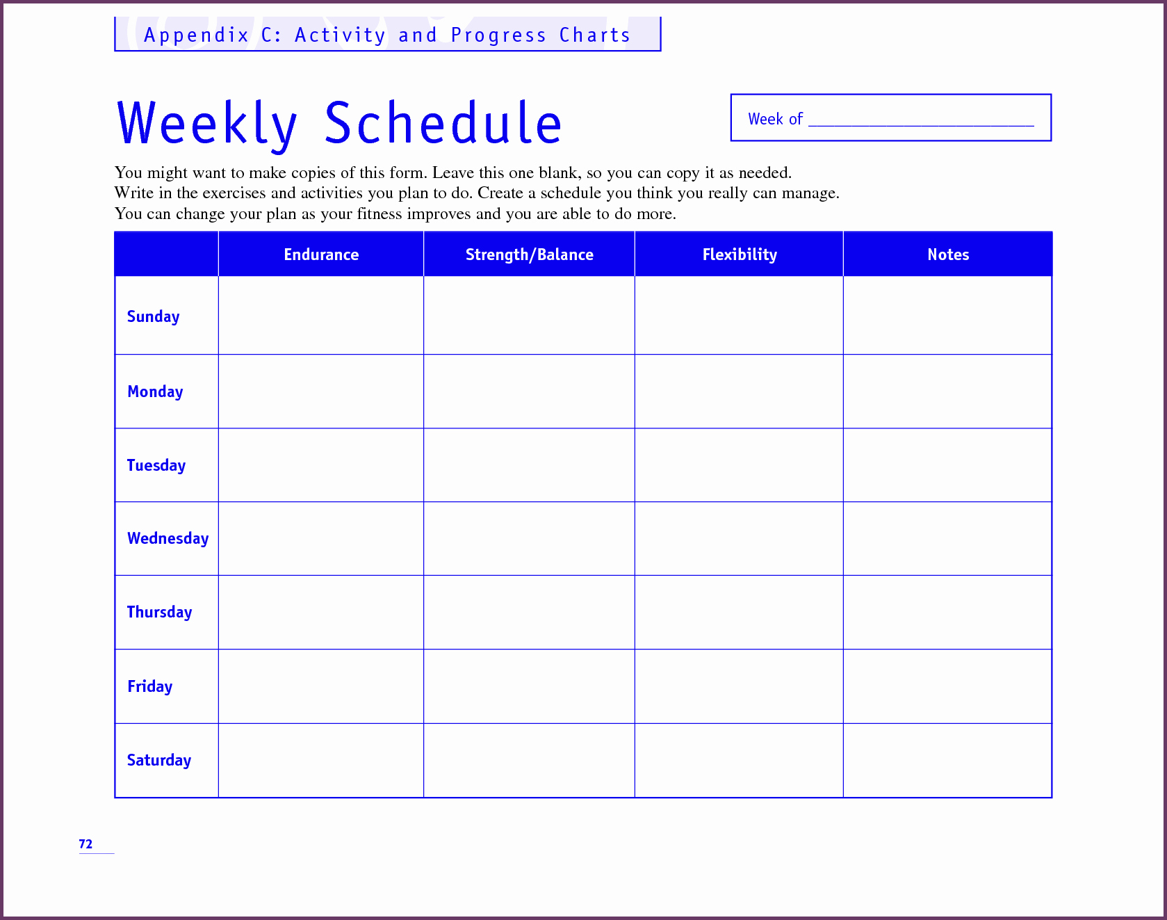 Weekly Workout Schedule Template Beautiful Weekly Activity Planner Template Templates Station