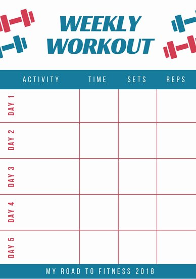 Weekly Workout Schedule Template Best Of Weekly Schedule Planner Templates Canva
