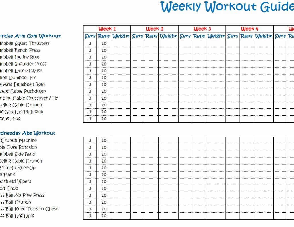 Weekly Workout Schedule Template Fresh Weekly Workout Schedule