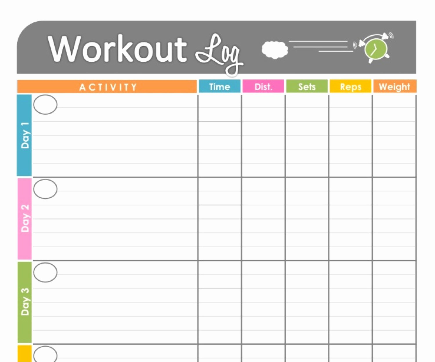 Weekly Workout Schedule Template Lovely 6 Best Of Blank Printable Workout Calendar Template
