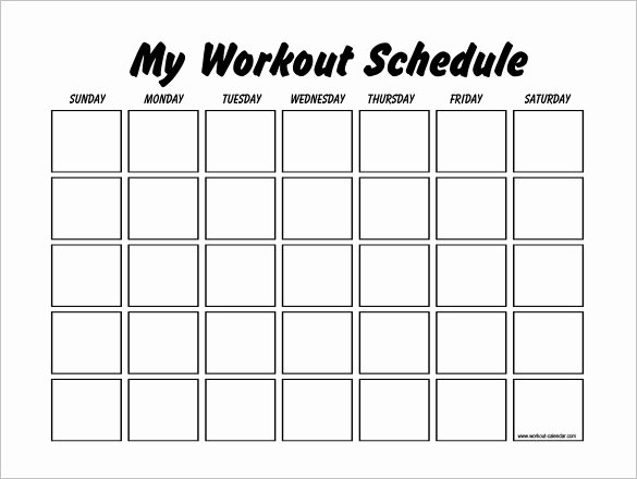 Weekly Workout Schedule Template Luxury 22 Workout Schedule Templates Pdf Doc