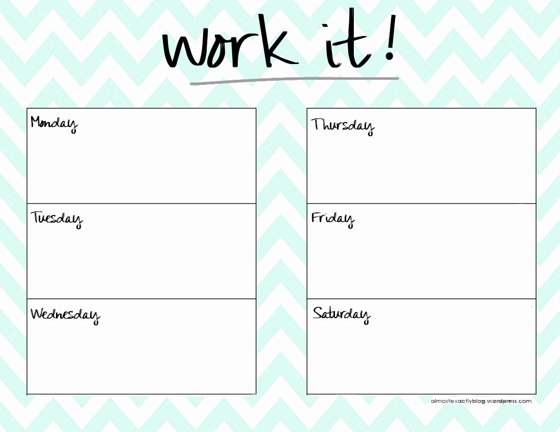 Weekly Workout Schedule Template Luxury Cute Weekly Planner Template Templates Station