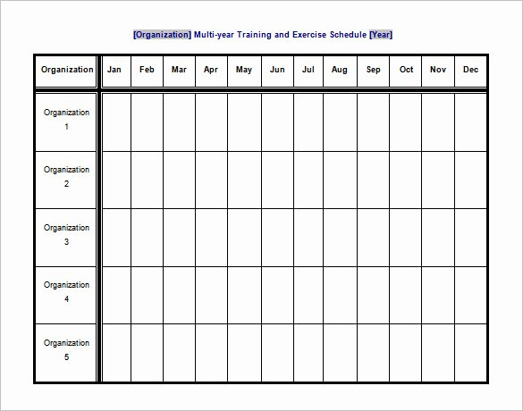 sample exercise schedule