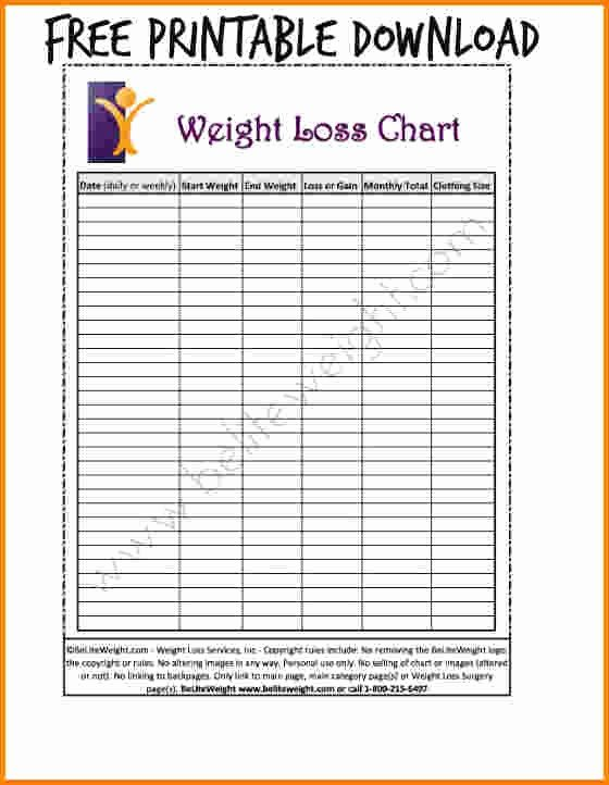 Weight Loss Calendar Template Awesome Unique Printable Weight Loss Calendar