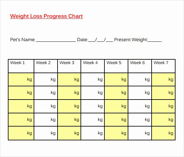 Weight Loss Calendar Template Fresh 8 Sample Weight Loss Charts