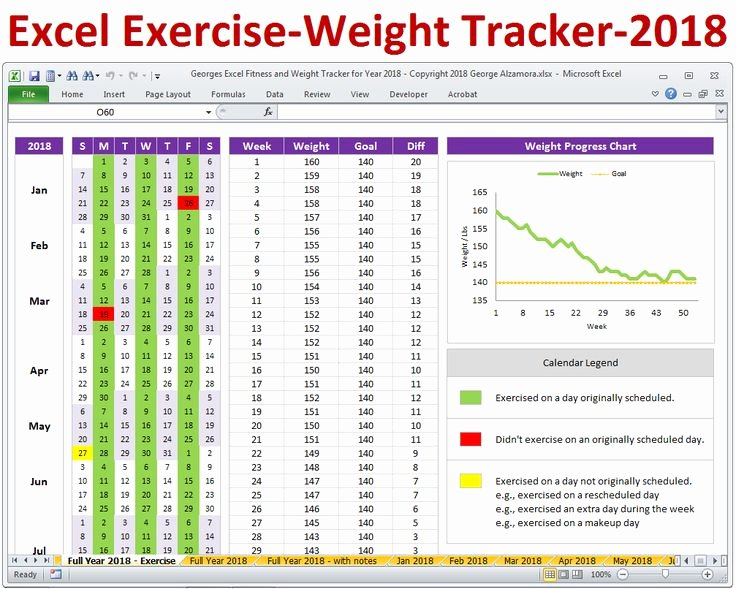 Weight Loss Tracker Template Lovely Excel Fitness Tracker and Weight Loss Tracker Spreadsheet