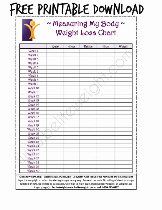 Weight Loss Tracker Template New Keeping Track Your Weight Loss Tips & Free Printable
